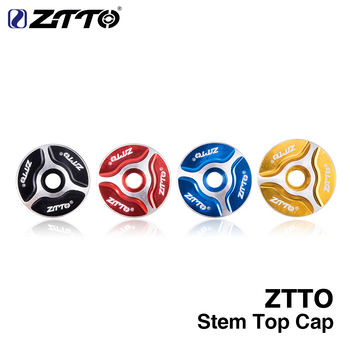 ZTTO MTB Bicycle Headset stem fork Top Cap 1-1/8 Threadless Headsets Parts Mountain Bike Road Aluminum Cover image