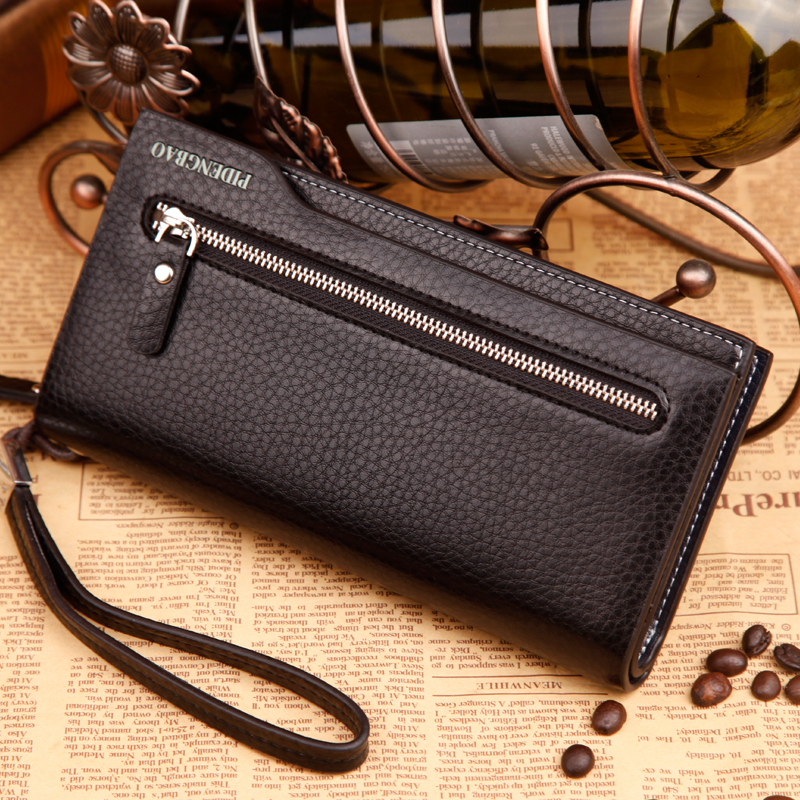 New 2015 Fashion Men Wallets High Quality Leather Wallet Multifunctional Men Purse Brand Men Clutch font