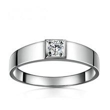 Diamond Men Solitaire Ring 18K font b White b font font b Gold b font 0