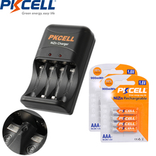 8PC PKCELL AAA battery 900mWh 1.6V NIZN Rechargeable Battery AAA Packed With 1PC Ni-Zn Charger EU US Plug for AA/AAA battery 8pcsaa 8pcs aaa ni zn 1 6v aa 2500mwh aaa 1000mwh rechargeable battery ni zn nimh aa aaa battery charger