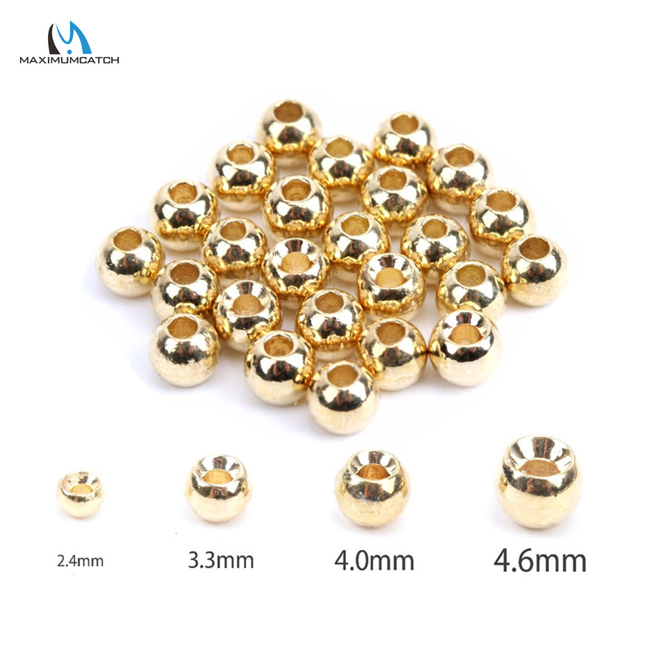 Maximumcatch 25pcs/lot 2.0-4.6mm Fly Tying Tungsten Beads Round Nymph Head Ball Fly Tying Material tungsten alloy steel woodworking router bit buddha beads ball knife beads tools fresas para cnc freze ucu wooden beads drill