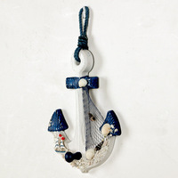 Mediterranean style household act the role ofing is tasted Household wall hanging on the wall adornment wood anchor by hand Anch