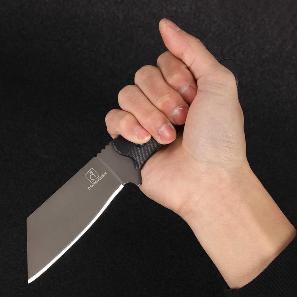 كامل تانغ جديد في الهواء الطلق سكينة تكتيكية بقاء أدوات التخييم جمع الصيد السكاكين مع المستوردة K غمد شفرة مثبتة سكين