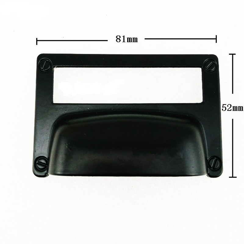 Wholesale Black Alloy Kitchen Drawer Cabinet Door Handle Furniture Knobs Cupboard Antique Shell Label Pull Handles,Card Holder