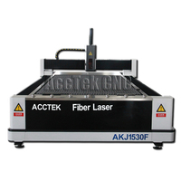 AccTek CNC 500w stainless steel carbon steel fiber laser cutter hot sale metal laser cutting machine