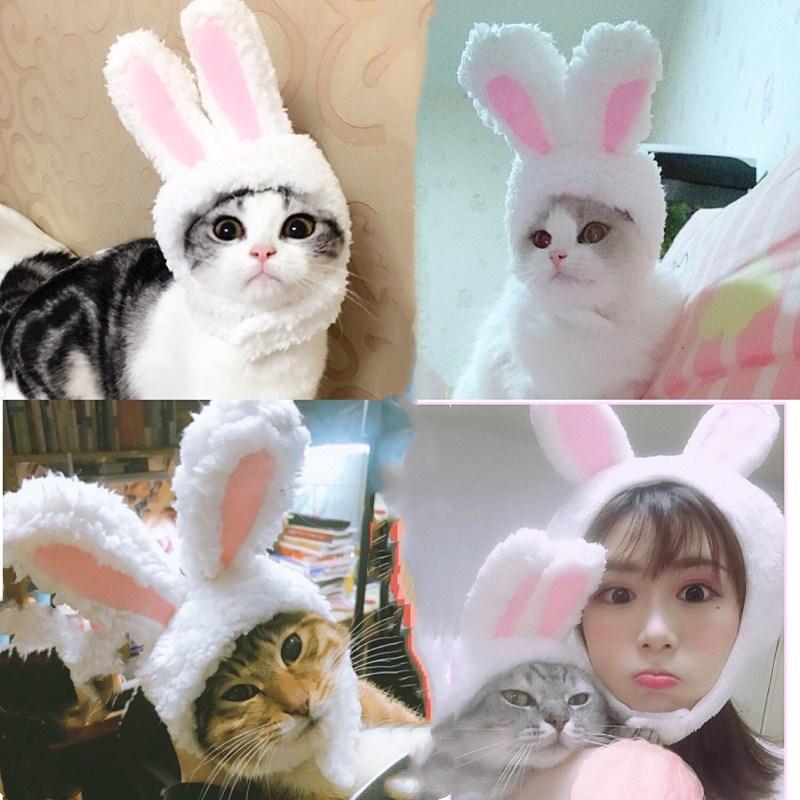 Pink Faux Fur KITTY Hoodie Cat Animal Costume Hat