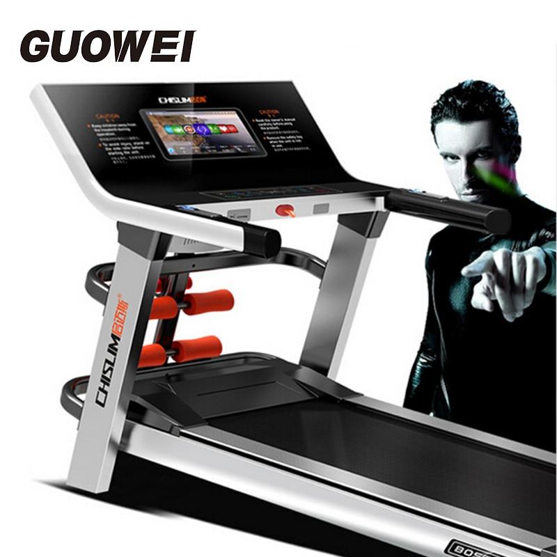 CHISLIM Fitness pliant électrique tapis de course équipement d'exercice muet entraînement équipement de sport motorisé tapis roulant Machine de course