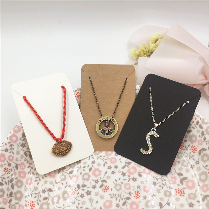 100pcs 8.8x5.6cm Simple Style Jewelry Packaging Paper Card Can Handmade DIY Love Necklace Bracelet Display Sale Card
