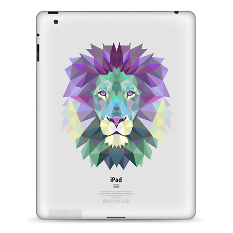 Tablet Decals Funny IPad Stickers Lion For IPad1/2/3/4 Air/Pro9.7inch IPad Mini1/2/3/4