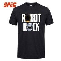 Men Casual Shirts Robot Rock Daft Punk Helmets Man Natural Cotton Short Sleeve T Shirts New
