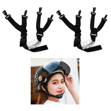 цена на 2Pcs Safety Helmet Climbing Hat Chin Strap 4 Point Height Work Adjustable Guard Correa de la barbilla del casco