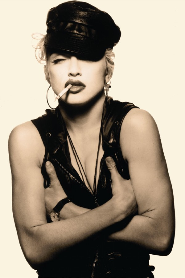 DIY frame Madonna smoking Music posrer Rock Dance music Electronic Music Fabric cloth silk posters and prints