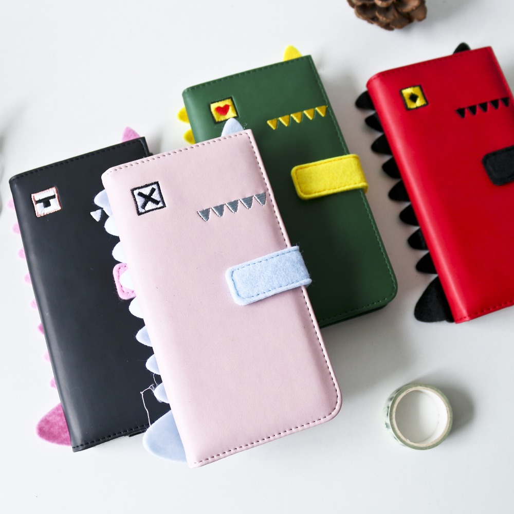 Cute Dinosaur Soft Faux Leather Diary Travel Notebook Business Study Freenote Notepad Stationery Gift princess cat coil spiral cute notebook diary hand memo study journal notepad freenote stationery gift