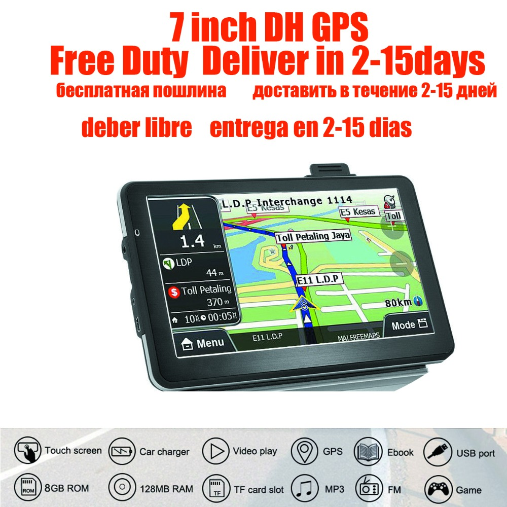 Oriana 2017 new 7 inch gps navigation TRUCK Navigator gps  800MHZ FM/8GB/DDR 128M New Maps Russia/Belarus/Kazakhstan Europe/USA-in Vehicle GPS from Automobiles & Motorcycles