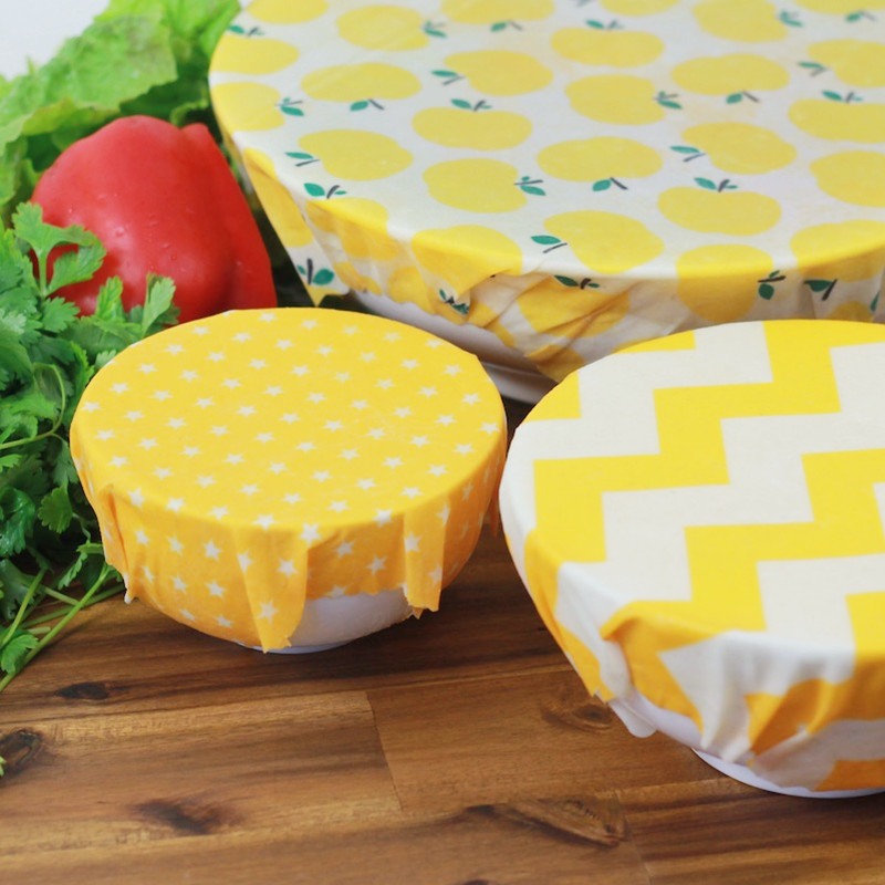 Reusable Beeswax Food Wraps Washable Food Storage Bags Organic Beeswax Cloth Wrap Silicone Food Wrap Replacement For Sandwich
