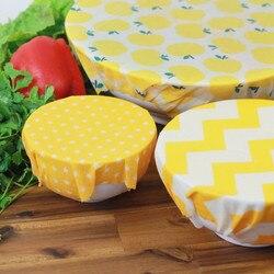 Wielokrotnego użytku wosk pszczeli nakładki do żywności zmywalne torby na przechowywanie żywności organiczny wosk pszczeli Wrap silikonowa bariera ochronna do żywności zamiennik dla kanapek|Folia i torby plastikowe|Dom i ogród -