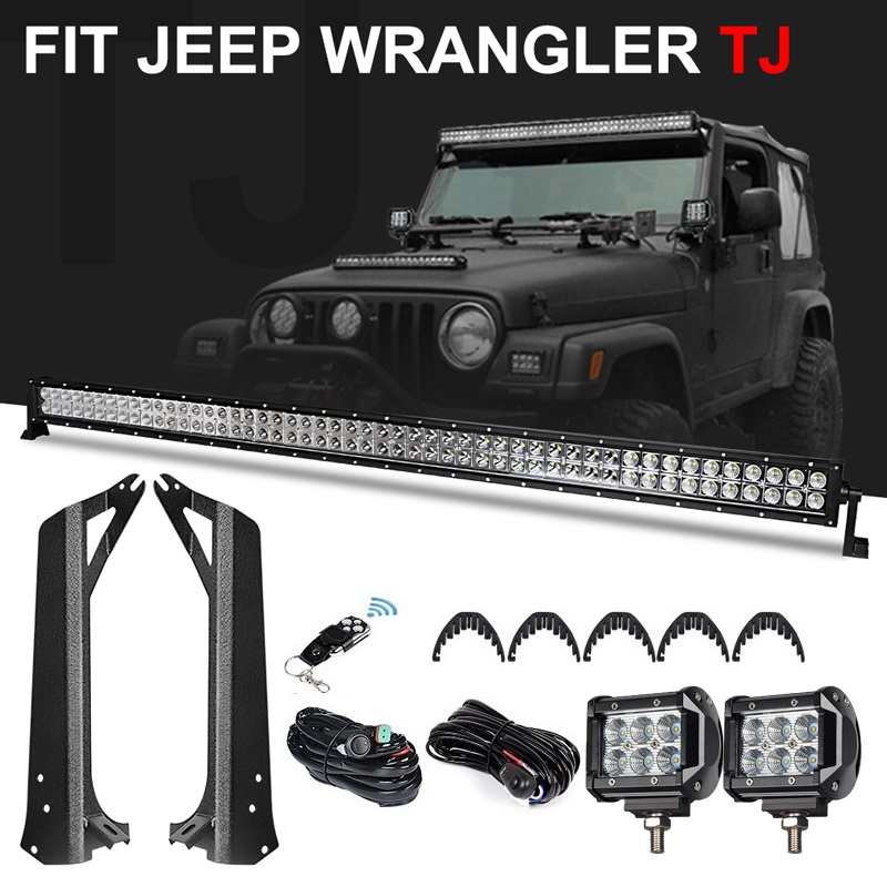 50 Inch 288w Offroad Classic Led Light Bar 4 Inch Work Light Mounting Brackets For Jeep Wrangler Tj 97 06 Kit Windshield Light Light Bar Work Light Aliexpress