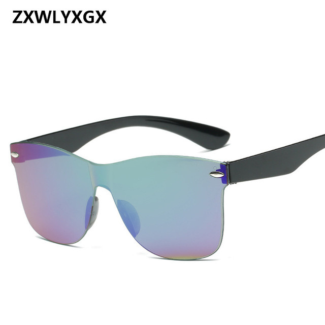 24fe19a48ca9b ZXWLYXGX 2017 Adulto Novo Espelho Moda Óculos De Sol Das Mulheres Dos Homens  Por Atacado de