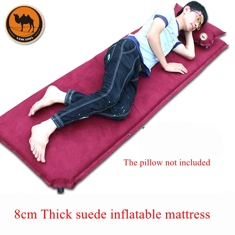 Camel 036-8 suede 8cm thick inflatable cushion, camping lunch cushion 199 * 66 * 8cm automatic outdoor tent inflatable mattressCamel 036-8 suede 8cm thick inflatable cushion, camping lunch cushion 199 * 66 * 8cm automatic outdoor tent inflatable mattress