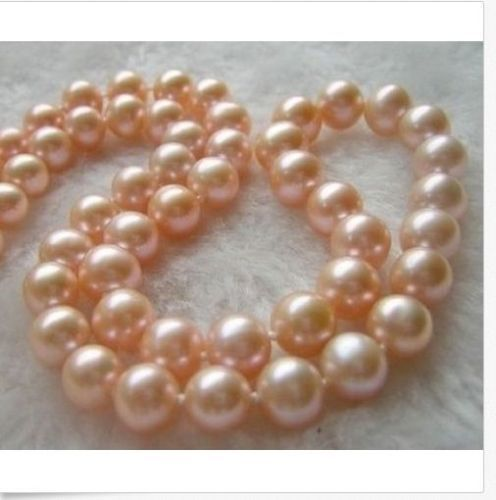 Jewelr 006460 HUGE AAA 14KGP 11 12MM SOUTH SEA GOLD PINK PEARL NECKLACE