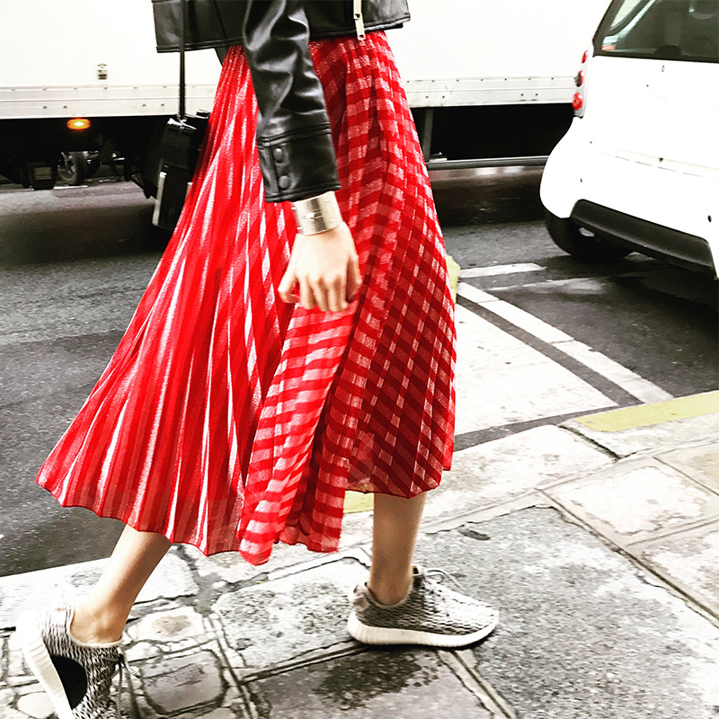 Popular Red Striped Skirt-Buy Cheap Red Striped Skirt lots from ...