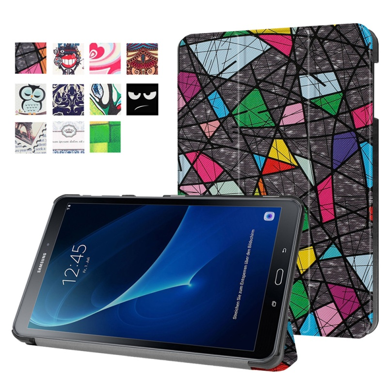 for Galaxy Tab A 10 1 2016 Leather Bag Cover Patterned Smart Leather Case for Samsung