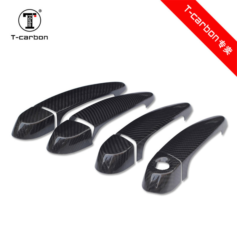 For BMW Carbon Fiber Auto Door Handle Knob Exterior Trim Covers For BMW M3 F80 M4 F82 F83 X5M E70 X6M E71 2015 - 2019 Sticker