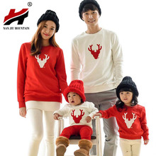 2016 Christmas Family Look Deer Mommy And Me Clothes Matching Family Clothing Sets Mother Daughter Father Baby T-shirt