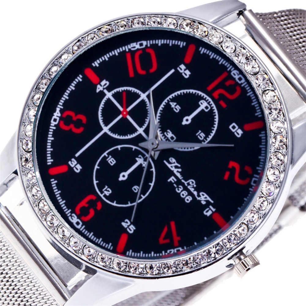 2019 שעון נשים אופנה חדש כסף גבירותיי יוקרה שעונים קוורץ Rhinestones שעוני יד relogio feminino צמיד מכירה לוהטת AA5