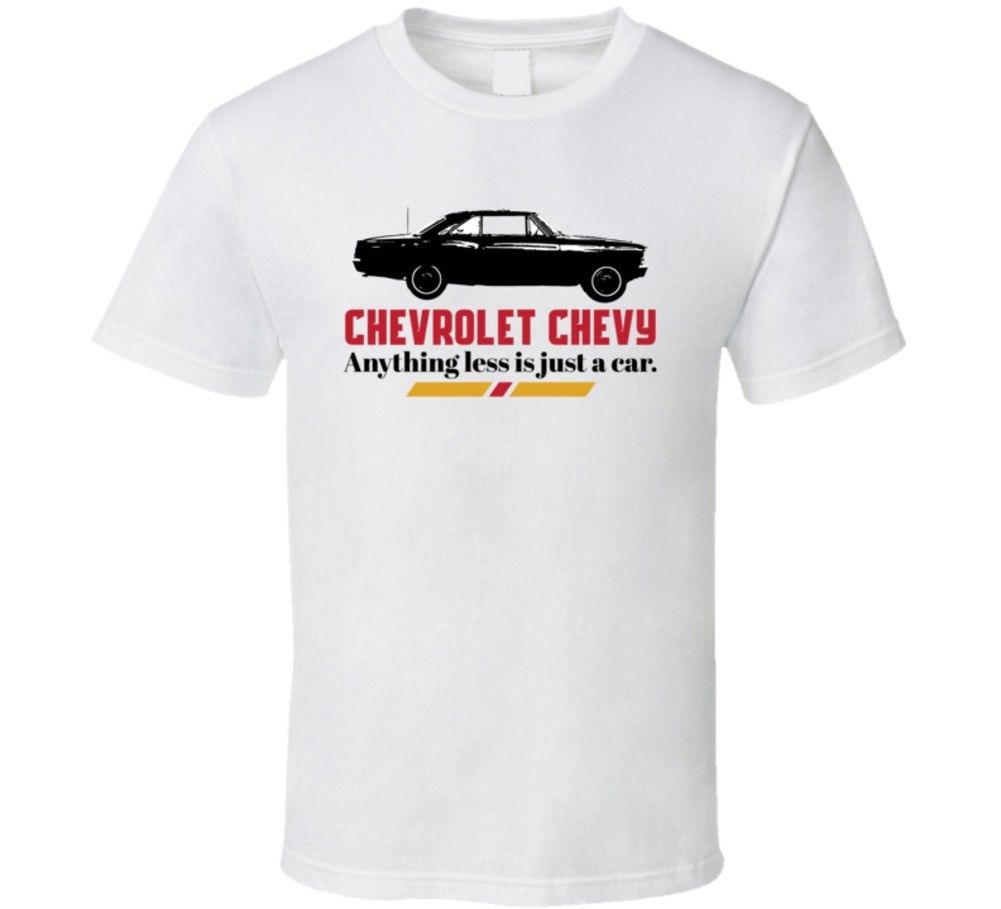 1966 Chevrolet Chevy Ii Nova Ss 327 B And W Anything Less Is Just A Car T Shirt In Shirts From Mens Clothing Accessories On Alibaba