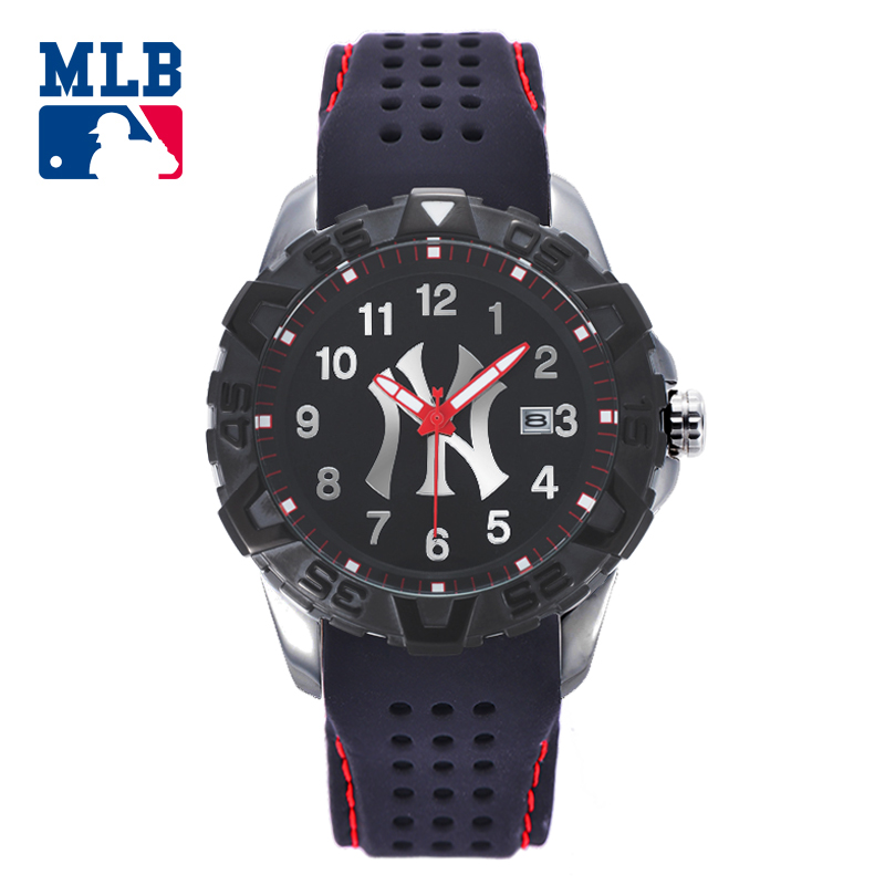 MLB NY Fashion Watches Rubber Watch Band Waterproof Luminous Lover Watches Men Women Quartz Sport Wrist Watch D5009 mlb time square series fashion sport couple watch waterproof wristwatch leather band quartz watch for men and women sd008