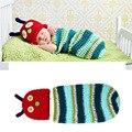 Вязание крючком Caterpillar Детские Hat & Cocoon Набор Крючком Новорожденный Caterpillar Фотография Реквизит для Новорожденных Фотография Реквизит Костюмы МЗС-14005