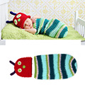 Crochet Caterpillar Baby Hat&Cocoon Set Crochet Newborn Baby Caterpillar Photography Props Infant Photo Props Outfits MZS-14005