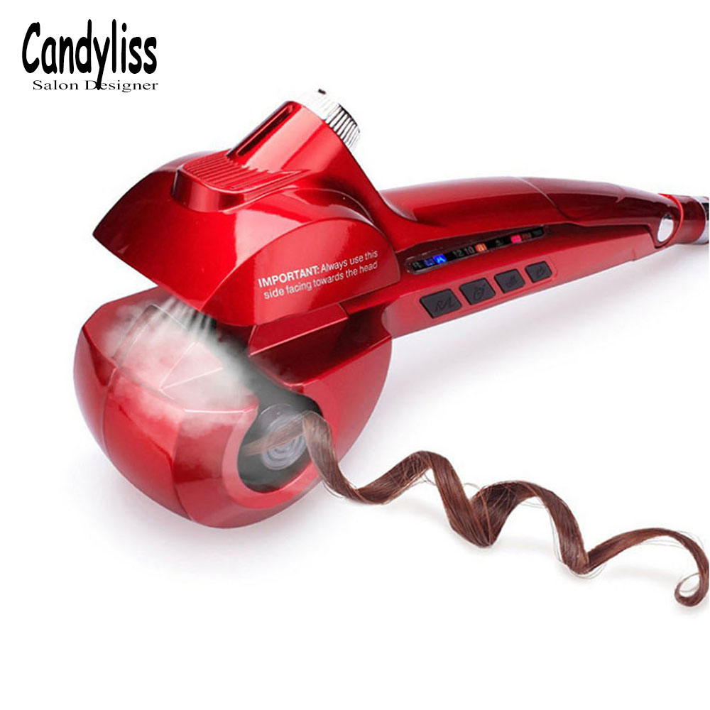 New Hair Curler Steam Spray Automatic Curlers Digital Curling Iron Professional Styling Tools 110-240V