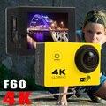 F60 Como Eken h9 Ultra HD 4 K de Vídeo 16MP 170 graus ir para debaixo d' água Câmera de ação de Esportes Câmera polegadas 1080 p 60fps pro Estilo