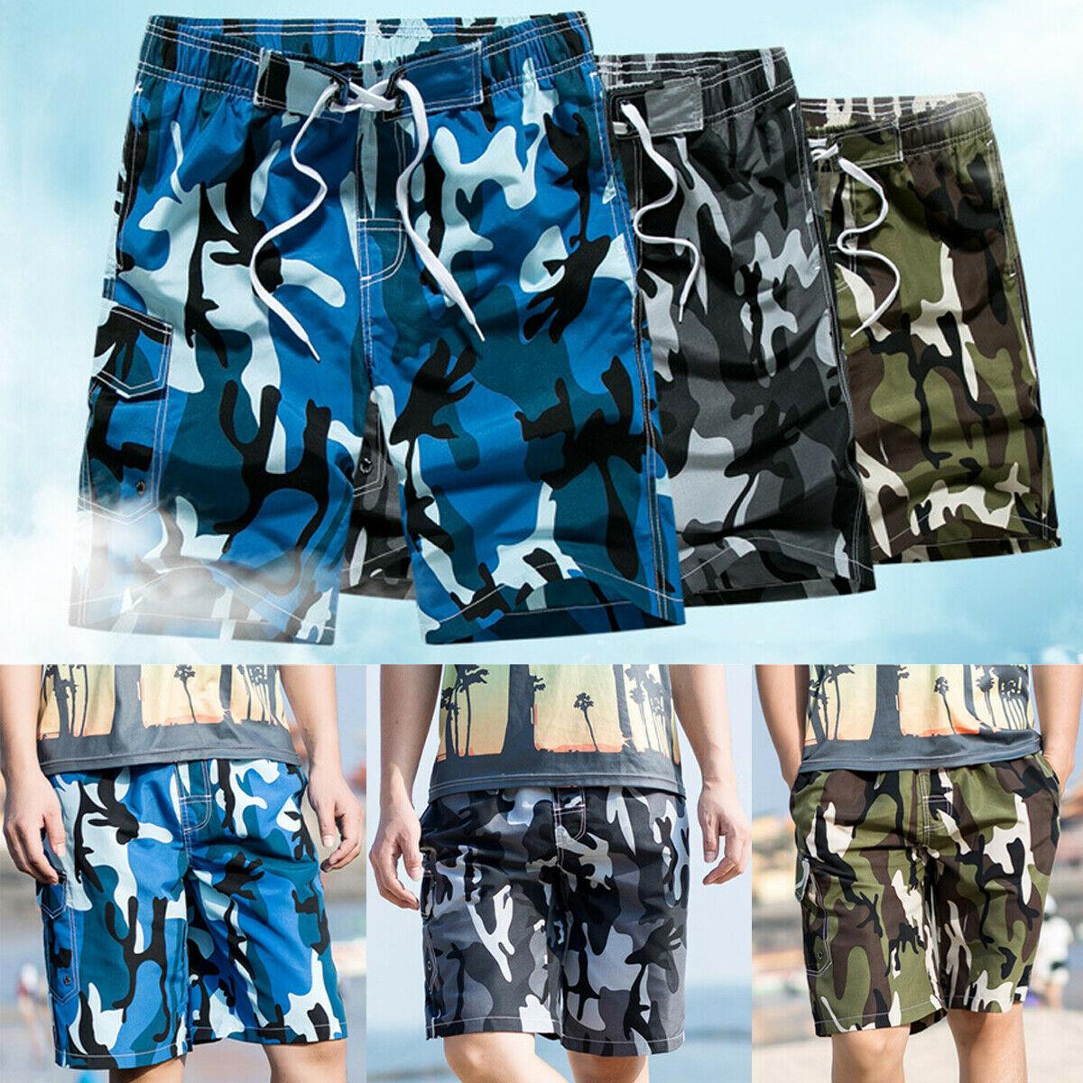 Men's Clothing Newest Men Surf Board Camouflage Shorts Summer Beach Pants Trunks Men Fashion Loose Short Pants Board Shorts