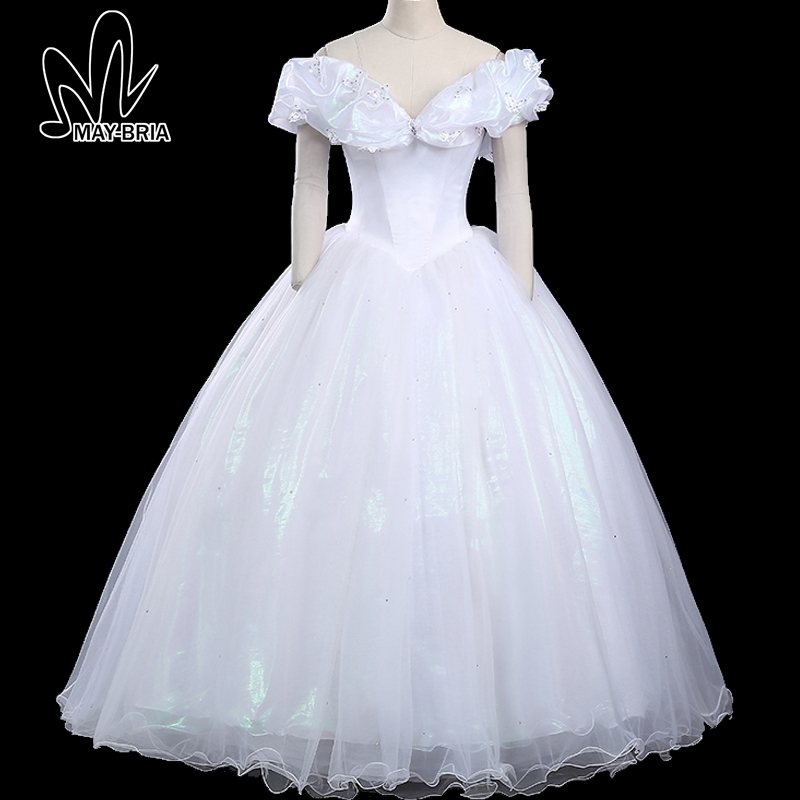 Princess Cinderella Wedding Dress Costume For: Princess Belle Cinderella Cosplay Costume Halloween