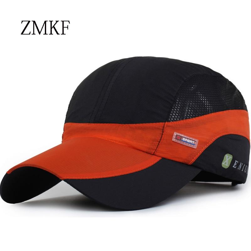 2018 ZMKF Verano Ourdoor Deportes Cap Hombres de secado rápido de - Accesorios para la ropa