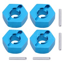 For Vaterra Twin Hammers Upgrade Parts Aluminum 12mm Wheel Hex Hub Mount Adapter Molded Pins 1