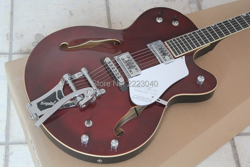 top quality wine red color g6119 jazz electric guitar with bigsby bridge 2017 custom shop new. Black Bedroom Furniture Sets. Home Design Ideas