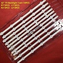 10PCS R1 L1 R2 L2 LED Strip perfect Replacement for LC420DUE 42LN5400 6916L 1385A 6916L 1386A 6916L 1387A 6916L 1388A 42LN575R