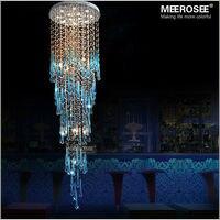Роскошные Хрустальный Потолок Декоративный светильник длинные большой современный потолочный светильник GU10 для лестницы блеск, отель лес
