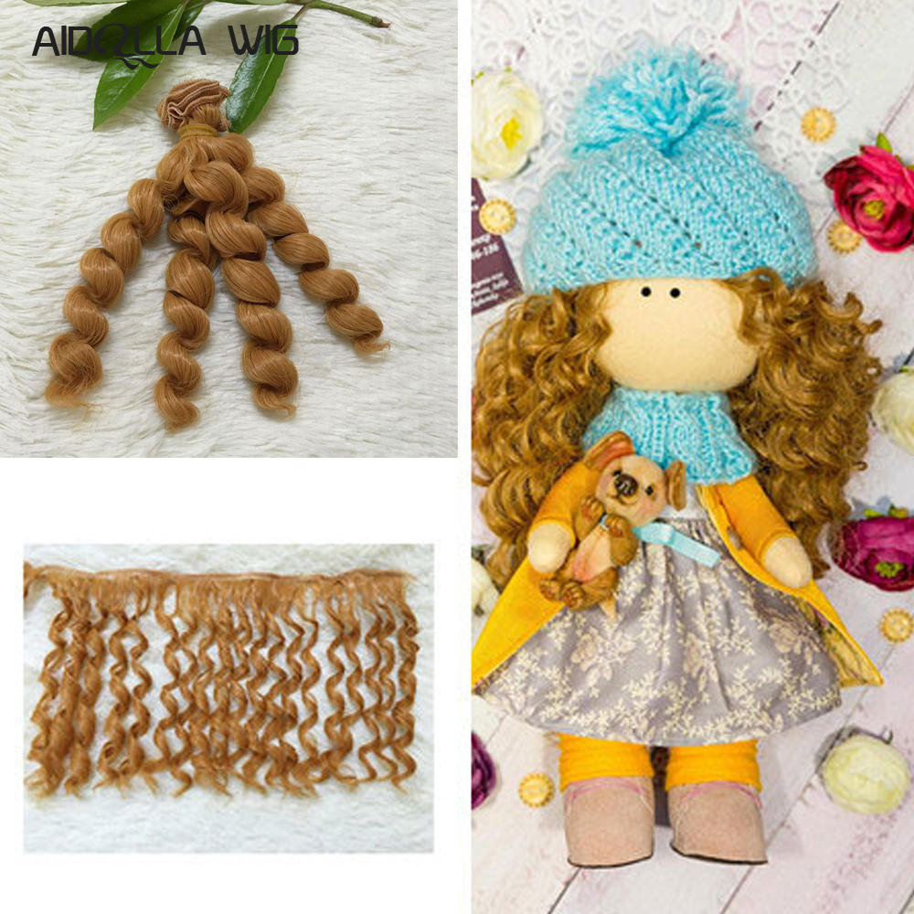 1pcs 15cm&25cm*100CM Doll wigs/hair Braid hairstyle For 1/3 1/4 1/6 BJD/SD doll DIY wigs 1pcs 25cm 100cm doll wigs hair for dolls bjd sd dolls diy white black brown light gold a variety of colors