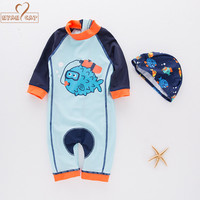 Nyan Cat Summer Baby Boy Fish Swimwear Hat 2pcs Set Swimming Suit Infant Toddler Kids Children