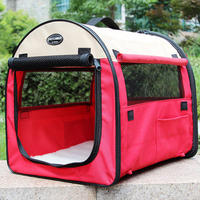 Pet House Removable Pet Tent Prevent Mosquito Dog Kennel Waterproof Oxford Blue Pink Red Green WLYANG