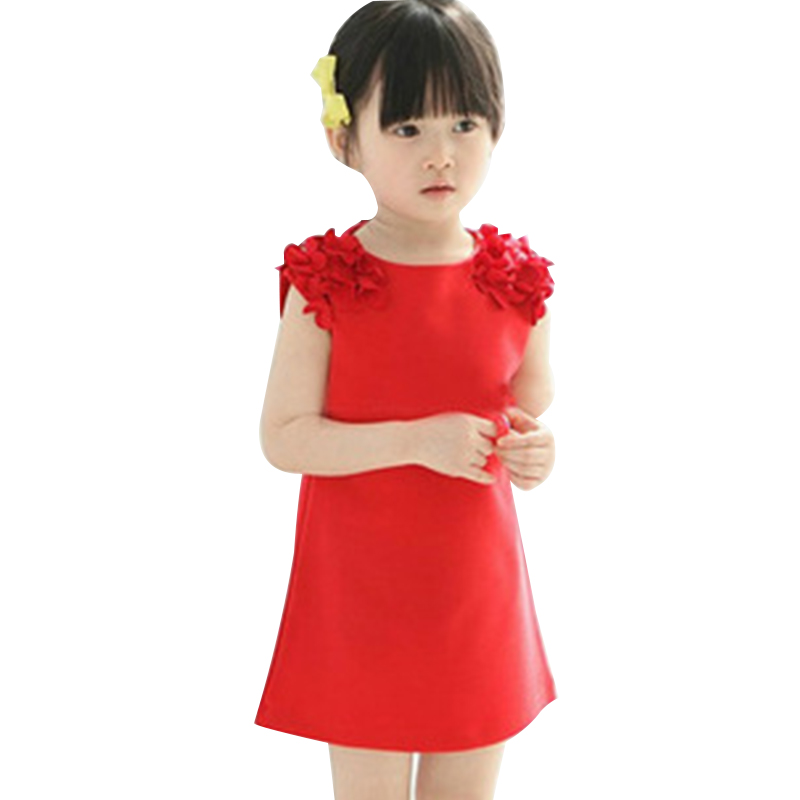 2017 Summer Vest Girl Dress Kids Baby Girl Princess Dress 2-7 Years Girls Clothing Children Casual Clothes Vestido Da Menina fashion kids baby girl dress clothes grey sweater top with dresses costume cotton children clothing girls set 2 pcs 2 7 years