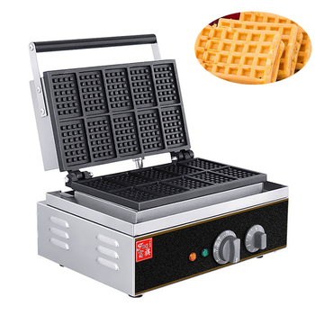Electric Waffles Maker Machine Iron Sandwich Maker Commercial Household Ten Grid Waffle Machine Waffle Cake Machine  FY-10 1ps fy 2205 rotating waffle electric heating waffle single head stainless steel waffle mcmuffins machine