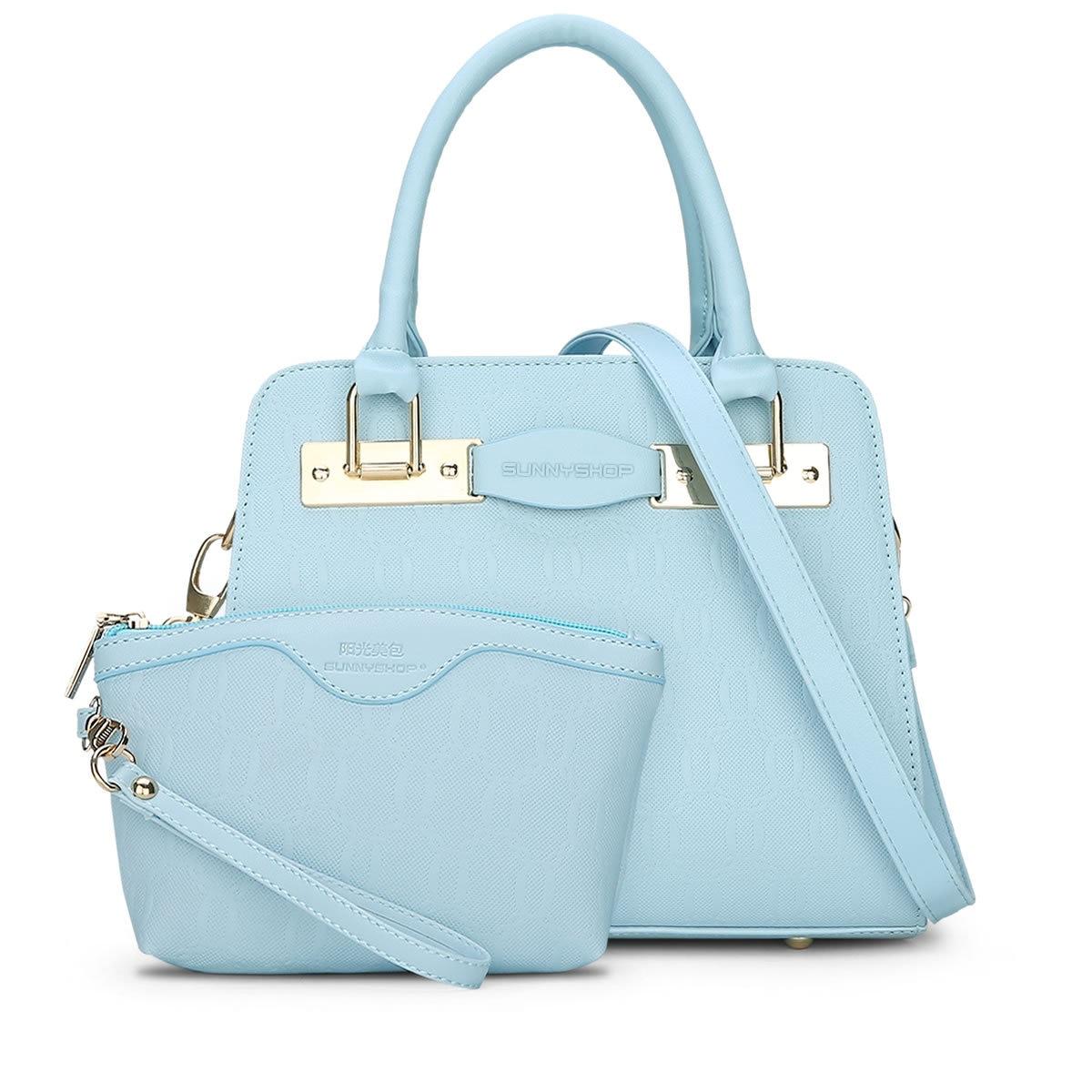 2 BAG/SET  New Fashion Embossed Designer Women Handbags High Quality PU leather Women Shoulder Bags  Women Bags Q5