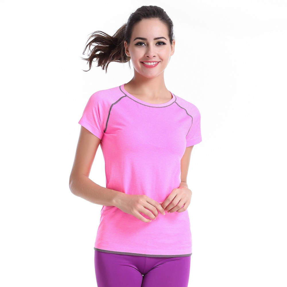 Spring Women Lady Sports Breathable Shirts Fitness Running Soft Short Sleeves Tops Quick Dry Comfortable T-shirts New