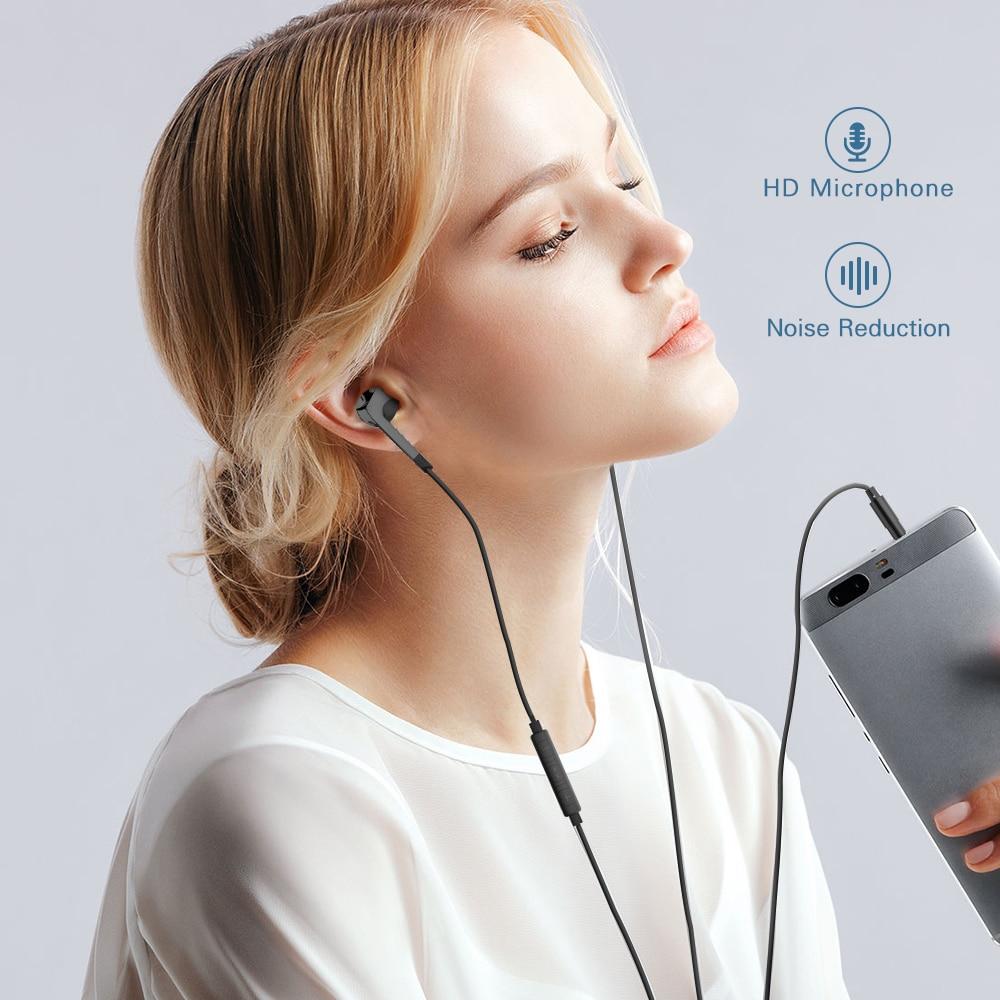 Langsdom Hifi-kuulokkeet kuulokkeella, jossa on mikrofoni - Kannettava ääni ja video - Valokuva 3